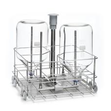 Lower level injection jet rack for bottles LB4