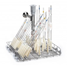 Lower level jetrack trolley for pipettes and flasks WITH drying connection  LPV40DS